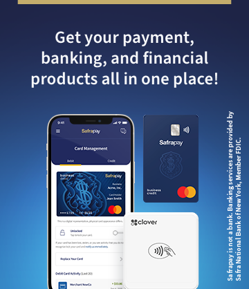 Get your payment, banking, and financial products all in one place!