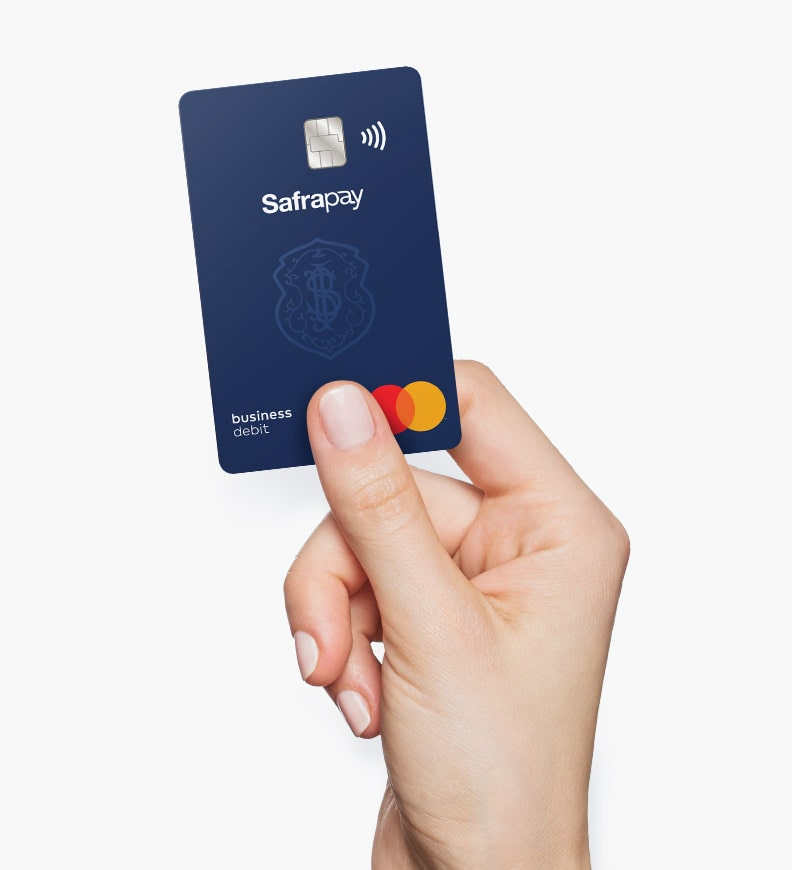business debit card from Safrapay