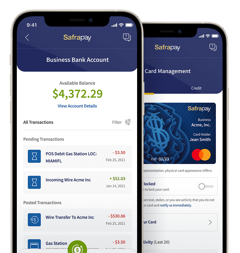 safrapay business banking app